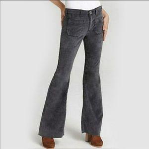 Free People High Waisted Flare Velvet Pants